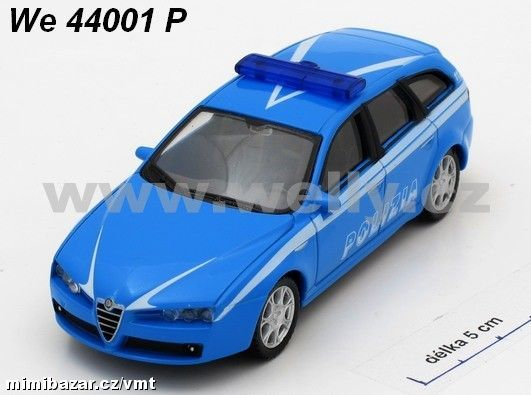 1:43 Alfa 159 Sportwagon Polizia Welly
