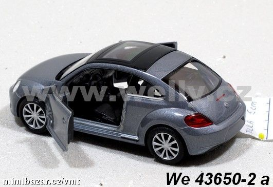 Welly 1:34-39 Volkswagen the Beetle stříbrné